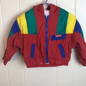 Vintage 80s/90s Primary Color Hooded Jacket